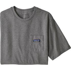 Patagonia P-6 Label Pocket Responsibili-Tee Men, gravel heather